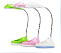 Wholesale Brand New AC220V W rechargeable desk lamps eye cartoon green pink white ABS lamp beads led light the night