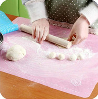 Wholesale 1Pc Non stick Cooking Baking Mats Knead Flour Pad Oven Cake Placemat Roll Kitchen Rolling Cutting Pad Baking Tools