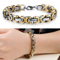 Wholesale Classic Design Punk L Stainless Steel Bracelet Special Biker Bicycle Motorcycle Chain For Mens Bracelets Bangles