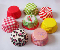 Wholesale Styles Plain cupcake liners Polka Dot baking cups Grid muffin case heart cupcake case