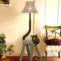 big floor lamp - Big Sale Cartoon child bedroom Floor lamp Lovely Cat Table Lamp LED lantern Clothing Off Switch Bed Room Lamp
