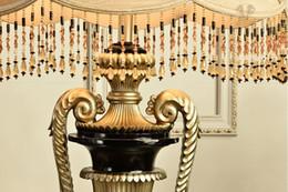 Wholesale-Standard Lamps Luxury Resin Floor Lamps European Style Living Room Floor Standing Lamp Classical Bedroom Stand Floor Light