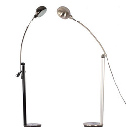 Wholesale-Brief stainless steel black floor lamp retractable marble base Silver fishing lamp table lamp Deco Lighting fixtures GY-Jan-9906
