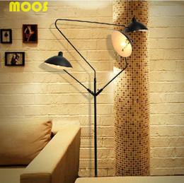 Wholesale Loft Paris Mediterranean retro craft promotional claws three light floor lamp Restaurant Cafe arm floor lamp