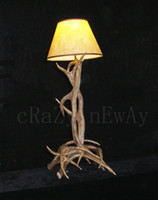 antler floor lamp - L W H cm Traditional Classic Art Deco Retro Artistic Antler Vintage antique rustic American Floor Lamp