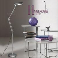 adjustable work stand - Modern Aluminum Adjustable Folding Floor Lamp For work and Study Flexible Standing Reading Light