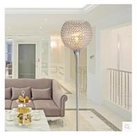 Wholesale Modern Simple K9 Crystal floor lamp silver Golden floor lamp with crystal modern living room bedroom bedside floor lamp lights