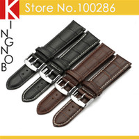 alligator watch bands - mm genuine calf leather Watch Band Strap Buckle for hours Black Brown Alligator Grain Bracelet for IWC