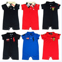 Wholesale baby boy clothes baby girl short sleeve clothing Brand Designer baby rompers summer baby cotton clothes newborn romper