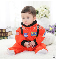 astronaut suit - High quality Baby boys Astronaut styling thick cotton climbing clothes baby body suit