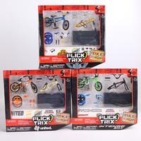 children bmx bicycle - Professional Flick Trix Finger Bmx set Nickel Alloy Stents Finger Bicycle Adult Novelty Children Toys Random Color Delivery
