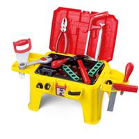 kids plastic chair - Early Educational Kids Toys Multifunctional Tool Chair Set Birthday Gift Play Children Set Tools Ferramentas De Brinquedo HL8054