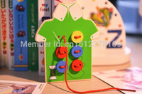 Wholesale Pc Baby s Handmade Sewing Buttons Wooden Educational Toy