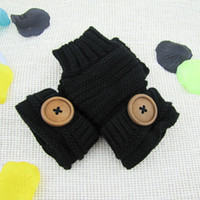 big buttons keyboard - women s semi finger gloves yarn big button exquisite short design keyboard set