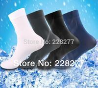 bamboo socks black - pairs Men s Socks bamboo fiber cotton for summer spring new man soks sox stocking silk cheap