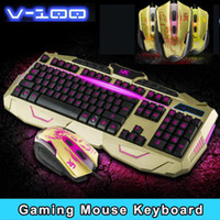 Wholesale USB wired Keyboards Mouse Pad Gaming Keyboard LED Keyboard Colorful Silent Keyboard for pc computer