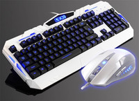 Cheap Wholesale-CBP Luminous backlit gaming keyboard mouse cambo usb wired best for gamer