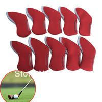 Wholesale Golf Iron Head Neoprene Cover Case Red