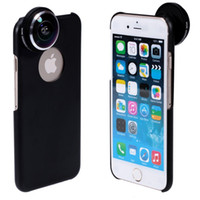 Cheap Wholesale-Detachable Screw-in Super Fish Eye Lens Wide Angle 235 Degree + Back Cover Case + Lens Protective Bag for iPhone 6