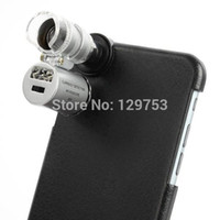 Wholesale X Zoom Microscope with LED Light amp Case for iPhone inch