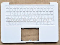 Wholesale brand new ORIGINAL Black laptop keyboard with touchpad white C shell for A1342 MC207