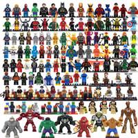 Wholesale Single sale styles marvel avengers super heroes minifigures star wars ninja batgirl building block sets toys for children