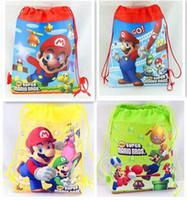 best kids backpacks - Super Mario Bros Children Cartoon Drawstring Backpack Kids School Bags Mixed Models cm Kids Best Birthday Party Gifts