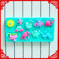 animal candle molds - Cute animals wreath shower party fondant molds silicone mold soap candle moulds sugar craft tools chocolate moulds bakeware