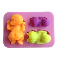 baby jello - Baby Shape Chocolate Candy Jello D Silicone Mold Mould Cake Tools Bakeware Pastry Bar Soap Mold C026
