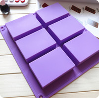Wholesale Hot sale hole Rectangle moulds cake mold silicone soap mold bakeware mold