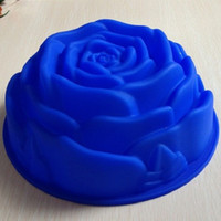 baking pans types - Rose Type Silicone Cake Mold Tools Baking Pan Tray Mak B007
