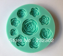 Free shipping 1Pcs Rose shape Chocolate Candy Jello silicone Mold Mould cake tools Bakeware Pastry bar Soap Mold C010