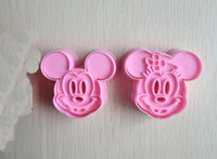 art cookie cutters - Mickey Mouse shape mold sugar Arts set Fondant Cake tools cookie cutters good