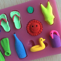 Wholesale New Arrival Beach Shaped D Silicone Cake Fondant Mold Cake Decoration Tools Soap Candle Moulds C141
