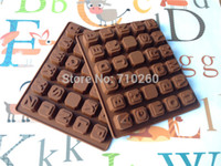 alphabet molds - 1 piece Silicone Alphabets letters and blank Chocolate Molds Jelly Ice Cake Mould Bakeware