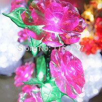 aluminium floor lamps - color changing LED tree light LED plastic lamp Basket Style Woven Wire Aluminium Floor Lamp with Bloomed Red Flowers