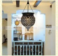 antique crystal ceiling lamps - LED Modern Black Crystal Chandelier Pendant Hanging Lamp Fixtures AC110 V Nordic Antique Crystal Ceiling Pendant Lmaps J