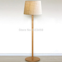 american energy sources - American wrought iron wood grain floor lamp fabric lamp living room lights light source
