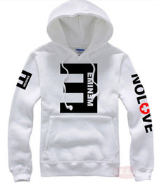 2015 Winter Men's Fleece Hoodies Eminem Printed Thicken Pullover Sweatshirt Men Sportswear Fashion Clothing