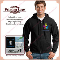 active personal - personal customized printing hoody business custom logo hoodies jackets custom unisex cotton poly gsm graphic printing HY04
