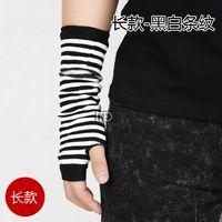 arm internet - Winter Korean hip hop Internet new men s gloves fingerless knitted Half Finger arm sleeve
