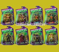 Wholesale Teenage Mutant Ninja Turtles action figures toy Shredder Splinter April O Neil Foot soldier kraang bebop rocksteady tmnt toys