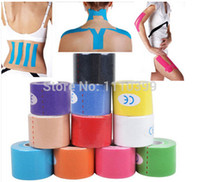 athletic bandage tape - Colorful knee pads cmx5m Sports Athletic Tapes Kinesio tapeRoll Cotton Elastic Adhesive Muscle Bandage Strain Injury protector
