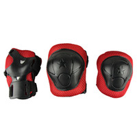 baby ski gear - New Kids Cycling Roller Ski Skate Skating knee elbow WRIST Safety Gear Pads for baby children