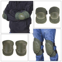 airsoft gear set - New Color Airsoft Tactical Adjustable Knee amp Elbow Protective Pads Set Protector Gear Sports Hunting Shooting Pads