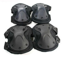 Gros-4pcs / set !!! US tactiques Pads Transformateurs de protection de paintball de genou de coude escalade domaine CS matériel d'équitation