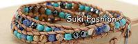 Wholesale X Mixed Semi precious Stone Natural Leather Wrap Bracelet Hematite Beads Bracelet Turquoise Bracelet Jewelry