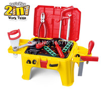 Wholesale Mobile Multifunctional Toolbox Child Chair in1 Kids Tool Toys Interest Parent child gifts Cultivate Little Engineer ABS Safe