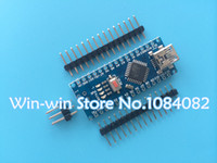 Wholesale Freeshipping Nano controller compatible with arduino nano CH340 USB driver NO CABLE