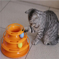 Wholesale Creative Pet Cat Toy Luxury Cat Kitty Interactive Pet Toy Training Amusement Plate Trilaminar Crazy Ball Disk Play Activity Game